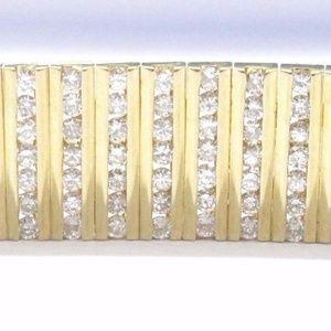 Jewelry - 18Kt Round Cut Diamond WIDE Tennis Bracelet 7.26CT
